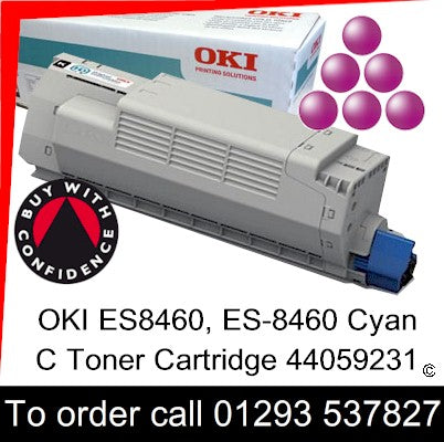 OKI ES8460 Toner 44059230 Magenta Genuine OKI ES-8460 Executive Series M Toner Cartridge for sale, in stock at our Crawley warehouse today for fast, UK wide delivery with a 12 month guarantee