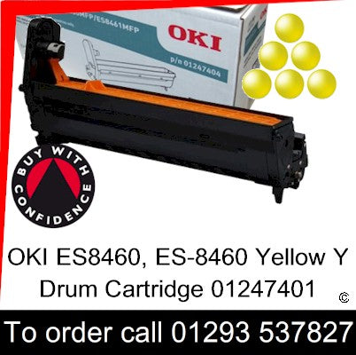 OKI ES8460 Drum 01247401 Yellow Genuine OKI ES-8460 Executive Series Y EP Cartridge for sale, in stock at our Crawley warehouse today for fast, UK wide delivery with a 12 month guarantee
