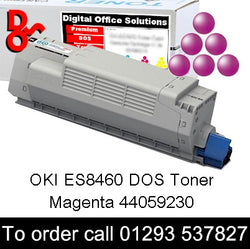 OKI ES8460 Magenta DOS Toner Cartridge sales 44059230, 10k yield, in stock, nationwide next day delivery reliable cartridges Reliable delivery every time