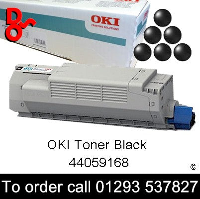 OKI MC851 Toner 44059168 Black Genuine OKI Toner Cartridge for sale Crawley West Sussex and Surrey