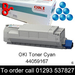OKI MC851 Toner 44059167 Cyan Genuine OKI Toner Cartridge for sale Crawley West Sussex and Surrey