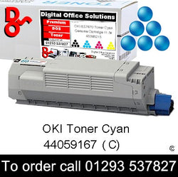OKI MC851 Toner 44059167 Cyan Premium Compatible Toner Cartridge Quality Guaranteed for sale Crawley West Sussex and Surrey