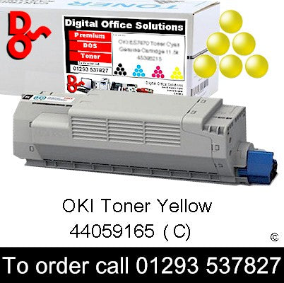 OKI MC851 Toner 44059165 Yellow Premium Compatible Toner Cartridge Quality Guaranteed