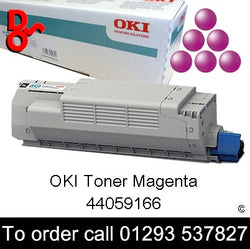 OKI MC851 Toner 44059166 Magenta Genuine OKI Toner Cartridge for sale Crawley West Sussex and Surrey