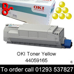 OKI MC851 Toner 44059165 Yellow Genuine OKI Toner Cartridge for sale Crawley West Sussex and Surrey