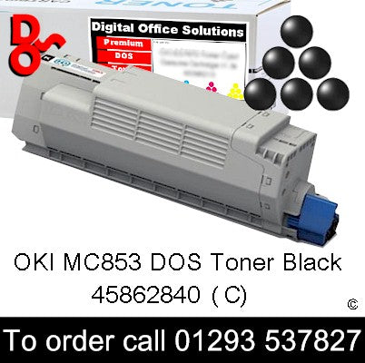 OKI MC853 Toner 45862840 Black Premium Compatible Toner Cartridge Quality Guaranteed for sale Crawley West Sussex and Surrey
