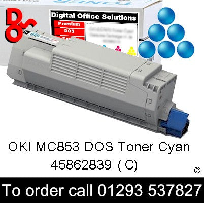 OKI MC853 Toner 45862839 Cyan Premium Compatible Toner Cartridge Quality Guaranteed