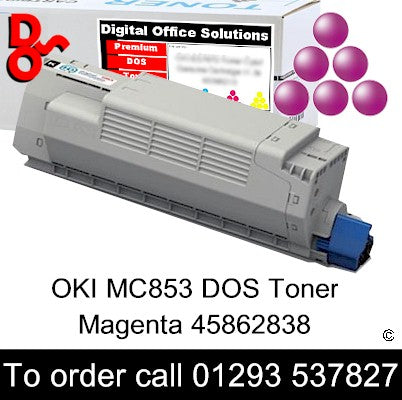 OKI MC853 Toner 45862838 Magenta Premium Compatible Toner Cartridge Quality Guaranteed for sale Crawley West Sussex and Surrey