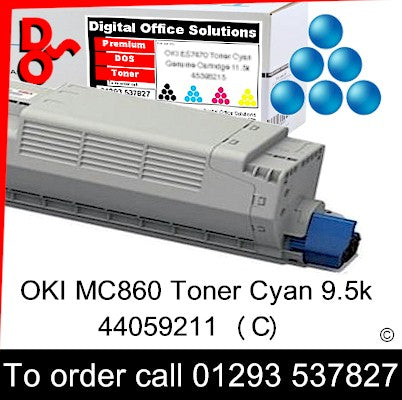OKI MC860 Toner 44059211 Cyan Premium Compatible Toner Cartridge Quality Guaranteed for sale Crawley West Sussex and Surrey
