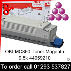 OKI MC860 Toner 44059210 Magenta Genuine OKI Toner Cartridge for sale Crawley West Sussex and Surrey