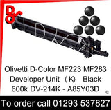 Olivetti D-Color MF223 MF283 Developer Unit (K) Black 600k DV-214K - A85Y03D   next day UK Nationwide call 01293 537827
