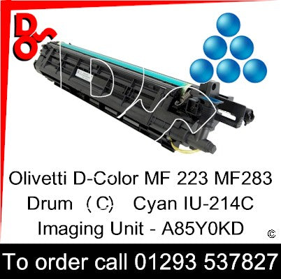 Olivetti D-Color MF 223 MF283 Drum (C) Cyan IU-214C Imaging Unit - A85Y0KD   next day UK Nationwide call 01293 537827