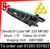 Olivetti D-Color MF 223 MF283 Drum (Y) Yellow IU-214Y Imaging Unit - A85Y08D   next day UK Nationwide call 01293 537827