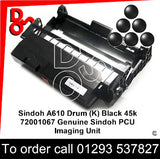 Sindoh A610 Drum (K) Black 45k 72001067 Genuine Sindoh PCU Imaging Unit