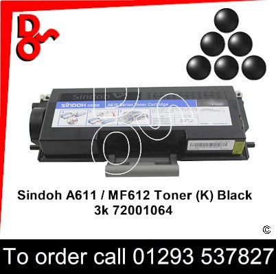 Sindoh A610 Toner (K) Black 3k 72001064 Genuine Sindoh Toner Cartridge