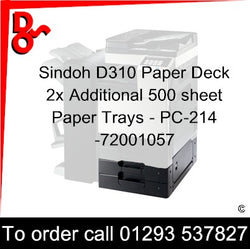 Sindoh Accessory Paper Deck PC-214 2x Additional Paper Tray 500 sheet - 72001051