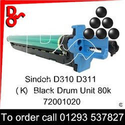 Sindoh D310 D311 Drum (K) Black Imaging Unit - 72001020   next day UK Nationwide call 01293 537827