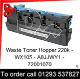 Sindoh D310 D311 Waste Toner Hopper, Box  WX105 - WX-105 - A8JJWY1 - 72001070   next day UK Nationwide call 01293 537827
