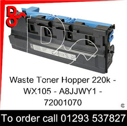 Develop INEO +227 / +287  Waste Toner Hopper, Box  WX105 - WX-105 - A8JJWY1 - 72001070   next day UK Nationwide call 01293 537827
