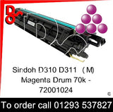 Sindoh D310 D311 Drum (M) Magenta Imaging Unit - 72001024   next day UK Nationwide call 01293 537827