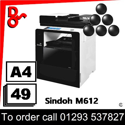 NEW Sindoh M612 A4 Mono MFP Multi-Function Printer Photocopier