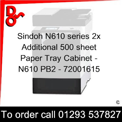 Sindoh M612 Accessory Additional Paper Tray 250 sheet - 72001056