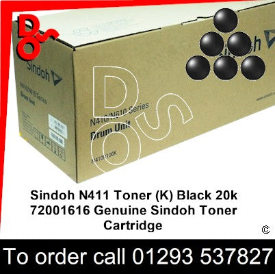 Sindoh N411 Drum (K) Black 100k 72001617 Genuine Sindoh Imaging Unit