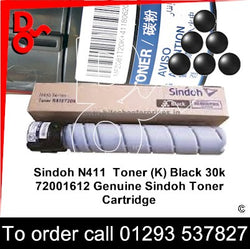 Sindoh N411 Genuine Toner Cartridge (K) Black 20k 72001616 next day UK Nationwide delivery call Digital Office Solutions on 01293 537827