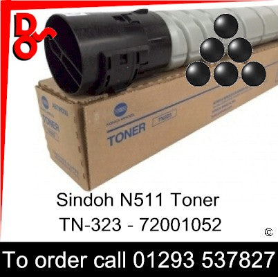 Sindoh N511 Toner (K) Black 23k Genuine Sindoh Toner Cartridge - TN-323 - 72001052