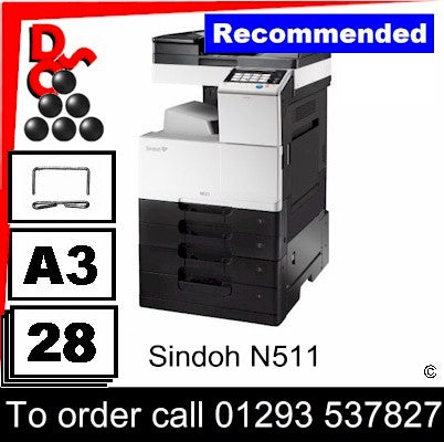 NEW Sindoh N511 A3 Mono MFP Multi-Function Printer Photocopier