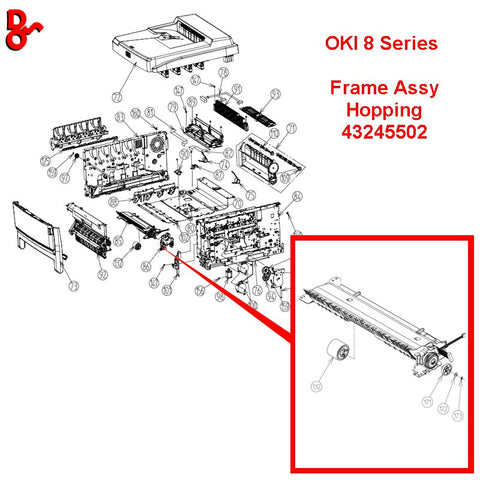 OKI ES8460 Spare Parts, Frame Assembly Hopping 43245502 for sale Crawley West Sussex and Surrey