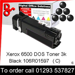 Xerox Phaser 6500 Toner 106R01597 Black 3k Toner Premium Compatible Quality Guaranteed for sale Crawley West Sussex and Surrey