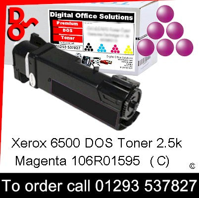 Xerox Phaser 6500 Toner 106R01595 Magenta 2.5k Toner Premium Compatible Quality Guaranteed for sale Crawley West Sussex and Surrey