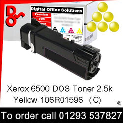 Xerox Phaser 6500 Toner 106R01596 Yellow 2.5k Toner Premium Compatible Quality Guaranteed for sale Crawley West Sussex and Surrey