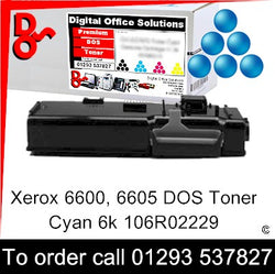 Xerox Phaser 6600 Toner 106R02229 Cyan 6k Toner Premium Compatible Quality Guaranteed