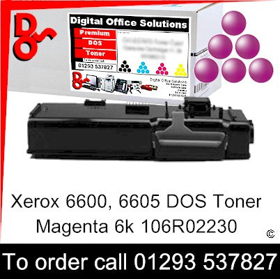 Xerox Phaser 6600 Toner 106R02230 Magenta 6k Toner Premium Compatible Quality Guaranteed for sale Crawley West Sussex and Surrey