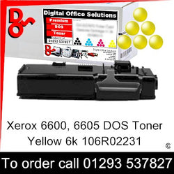 Xerox Phaser 6600 Toner 106R02231 Yellow 6k Toner Premium Compatible Quality Guaranteed for sale Crawley West Sussex and Surrey
