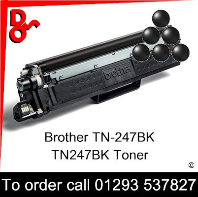 Brother TN-247BK TN247BK Toner (K) Black 3k Premium Compatible - TN247BK UK next week day delivery