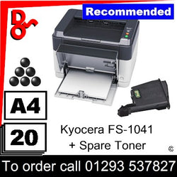 """Special Offer"" NEW Kyocera FS-1041 Mono A4 Printer + Spare Toner"