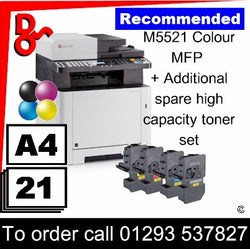 """Special Offer"" NEW Kyocera M5521cdn Colour A4 MFP Printer + spare toner set"