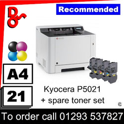 """Special Offer"" NEW Kyocera P5021cdn Colour A4 Printer + spare toner set"