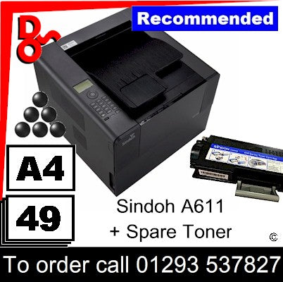 """Special Offer"" NEW Sindoh A611dn A4 Fast Mono Printer + Spare 6k Toner"