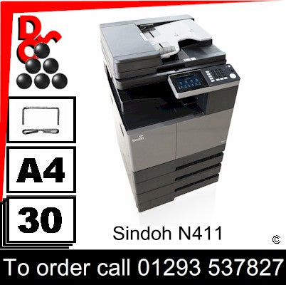 NEW Sindoh N411 A3 Mono MFP Multi-Function Printer Photocopier