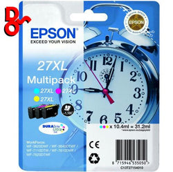 Epson C13T27154010 CMY Multi-Pack 1.1k Ink Genuine Epson Cartridges