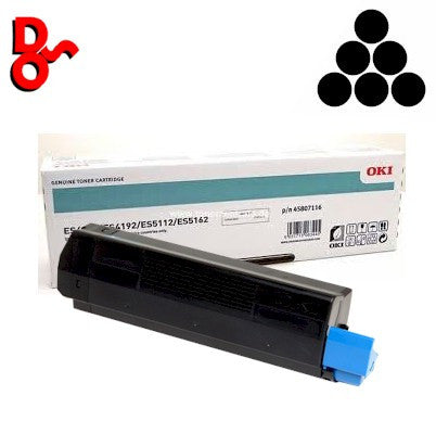 OKI ES4132 Toner 45807116 Black 12k Genuine OKI Executive Series Toner Cartridge for sale Crawley West Sussex and Surrey