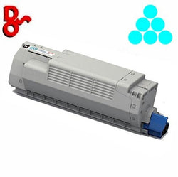 OKI C801 Toner 44643003 Cyan 7.3k Genuine OKI Toner Cartridge for sale Crawley West Sussex and Surrey