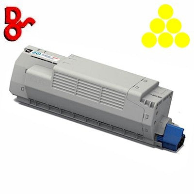 OKI C801 Toner 44643001 Yellow 7.3k Genuine OKI Toner Cartridge