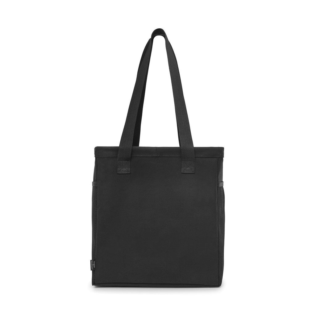 Gemline Black Colbie Collapsible Cotton Tote