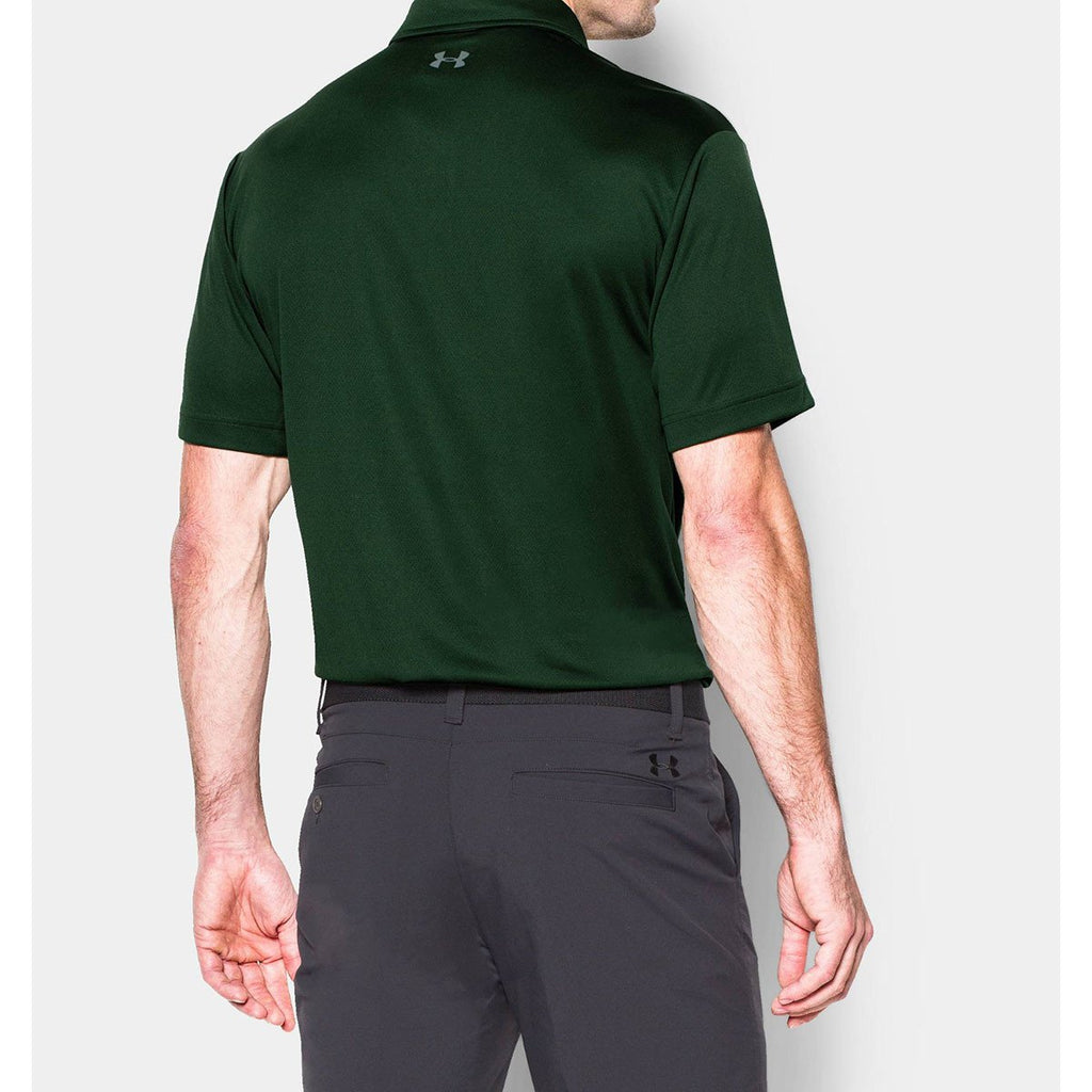 Under Armour Men's Forest Green UA Leaderboard Polo