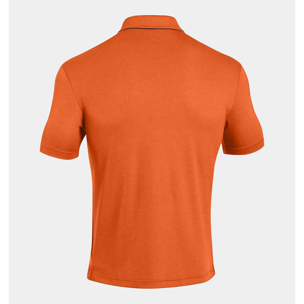 Under Armour Men's Orange UA Leaderboard Polo